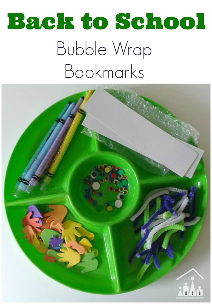 Bubble Wrap Bookmarks for Back to School