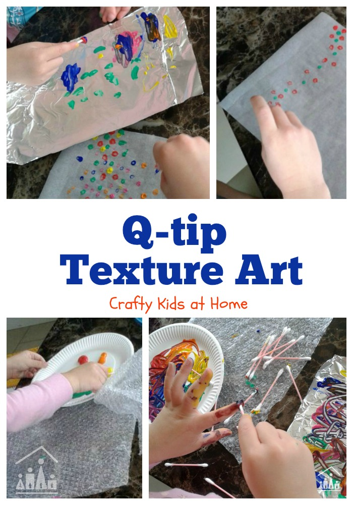 Q-Tip Painting Pictures on Different Textures