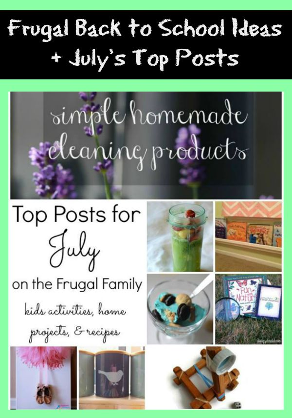 frugal back to school ideas