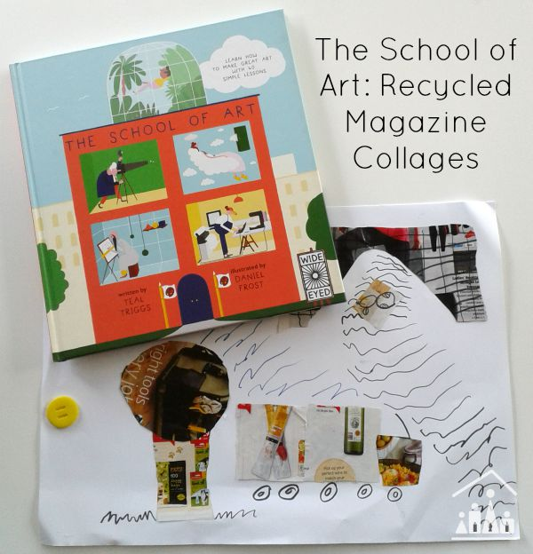 school of art recycled magazine collages