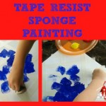 Tape Resist Sponge Painting