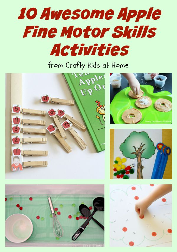 Top 10 apple activities for fine motor skills