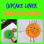 Cupcake Liner Silly Monsters
