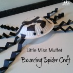Little Miss Muffet Bouncing Spider Craft