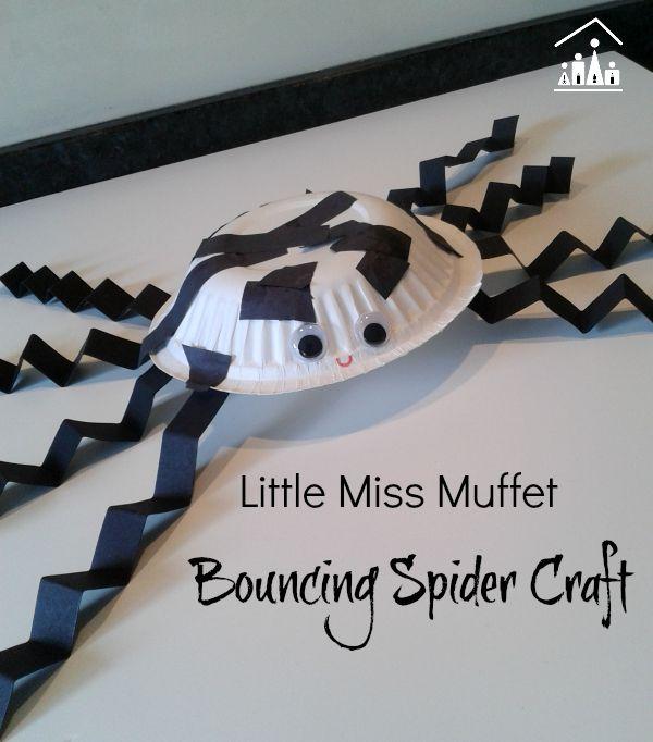 little miss muffet bouncin1g spider craft