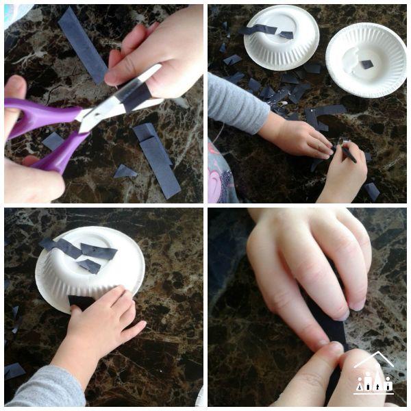 little miss muffet spider craft collage