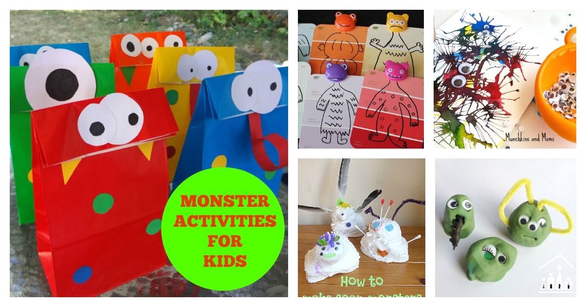 14 Monster Activities For Kids Crafty Kids At Home
