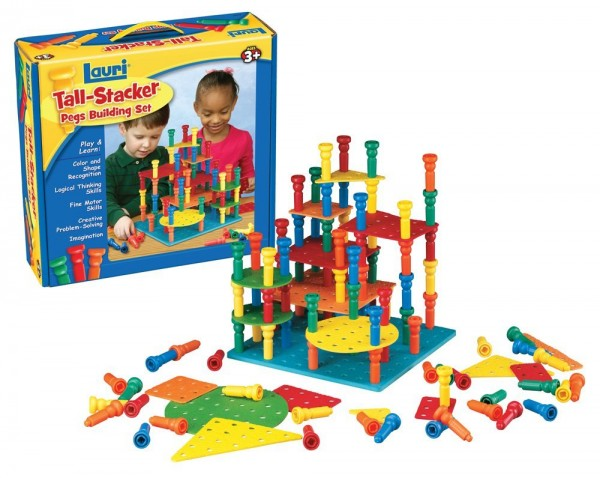 Best Toys 4 Toddlers - Lauri's Tall Stacker is an ideal first construction toy for your 3-year-old boys and girls!
