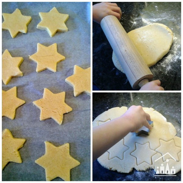 baking dairy free star biscuits