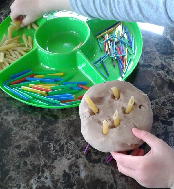 playdough hedgehogs