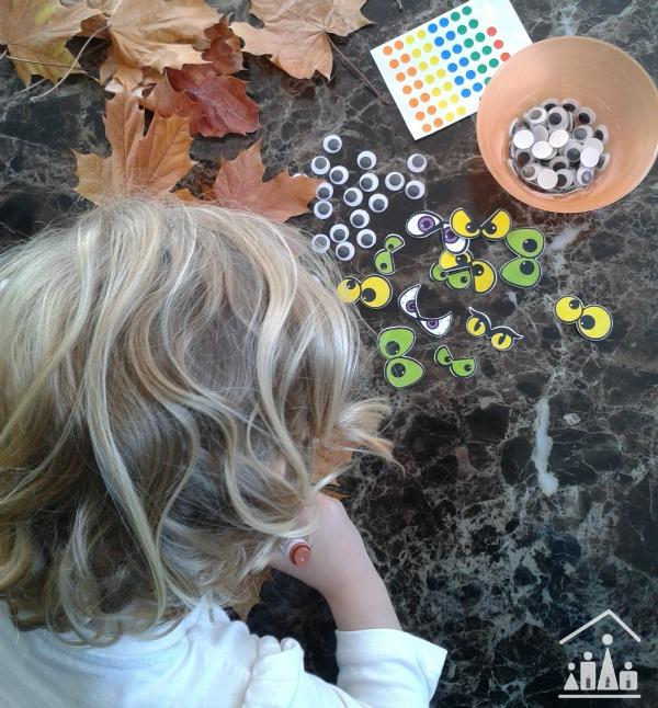 Making Monsters Leaf Craft for Kids