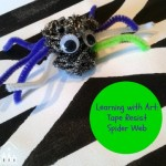 Learning with Art: Tape Resist Spider Web