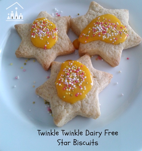 twinkle twinkle little star dairy free cookies
