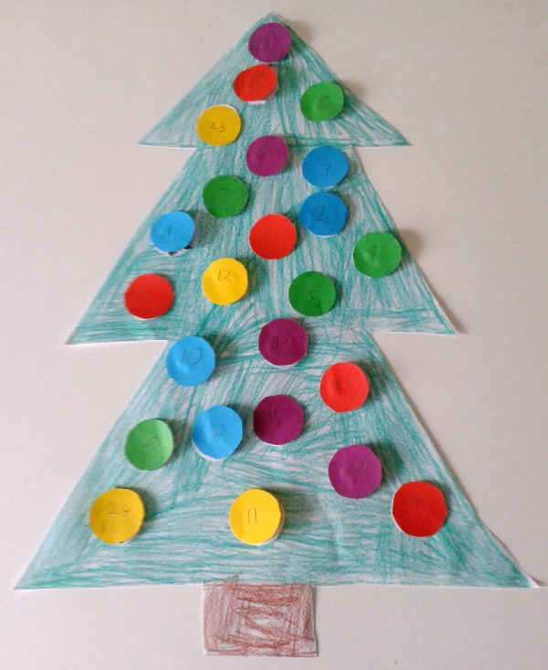 DIY Christmas Tree Advent Calendars