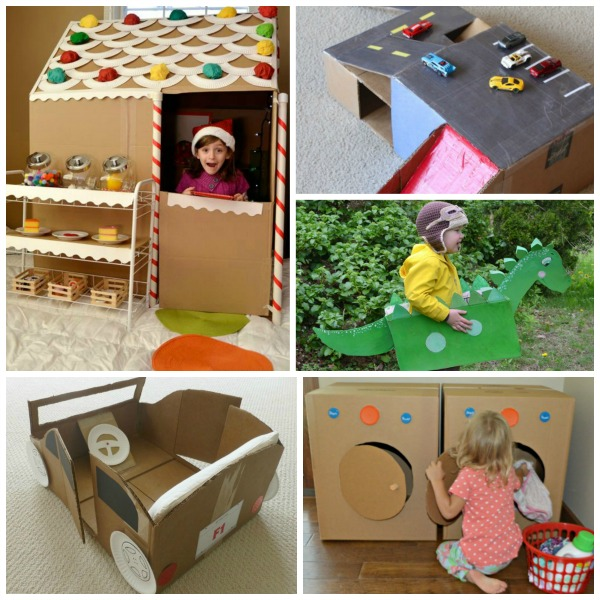 cardboard box imaginative play