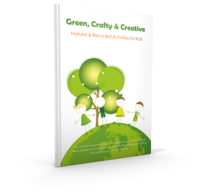 green crafty & creative natural and recycled activities for kids front cover
