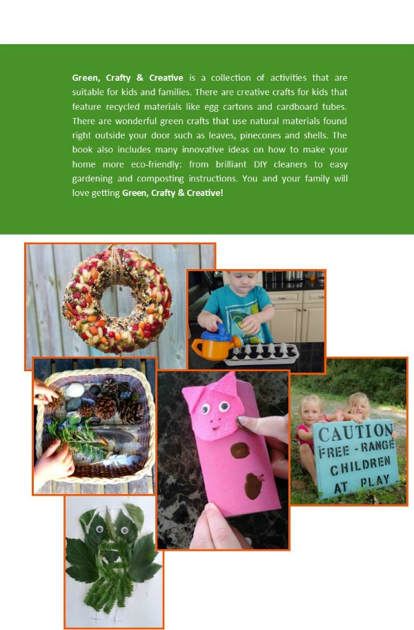 green crafty creative natural recycled activities for kids backcover
