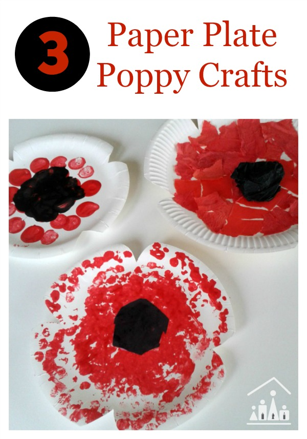 paper plate poppy crafts