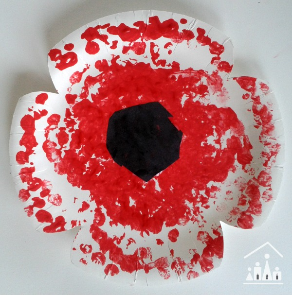 paper plate poppy crafts bubble wrap