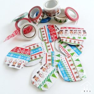 Washi Tape Bauble Christmas Cards for Kids