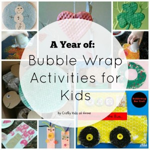 bubble wrap activities for kids collage