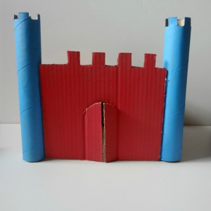 indoor activities cardboard castle