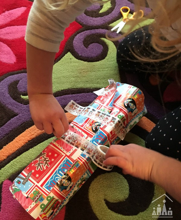 fine motor skills wrapping station