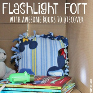 Indoor Activities flashlight fort