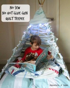indoor activities quilt teepee