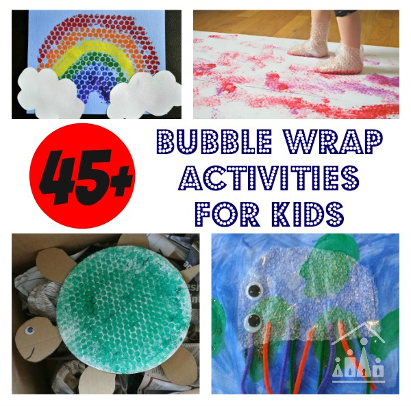 45 bubble wrap crafts for kids