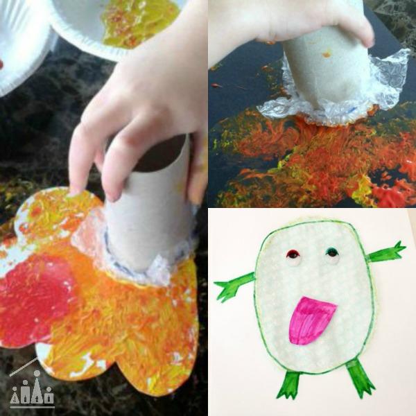autumn bubble wrap activities for kids