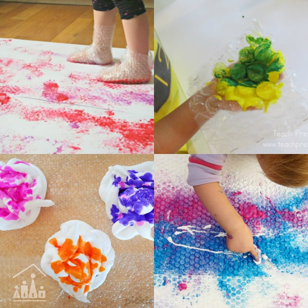 bubble wrap process art for kids
