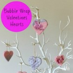 Bubble Wrap Heart Decorations for Kids