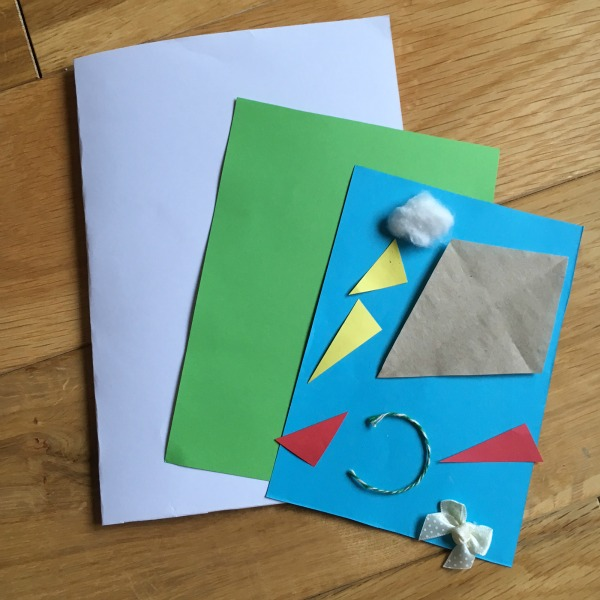 materials to make a kids kite collage