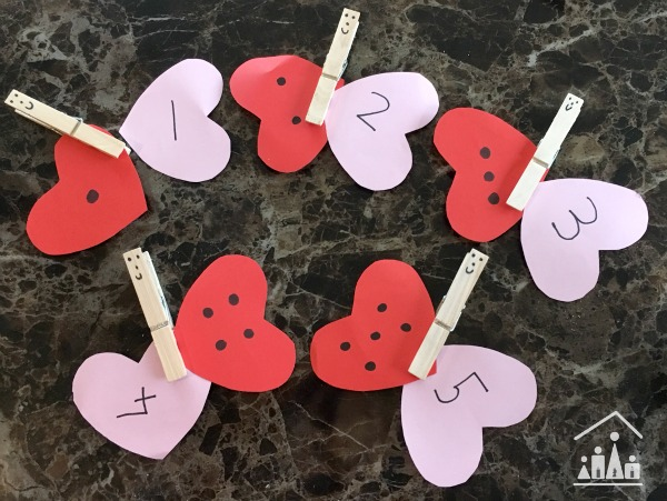 love heart number recognition butterflies