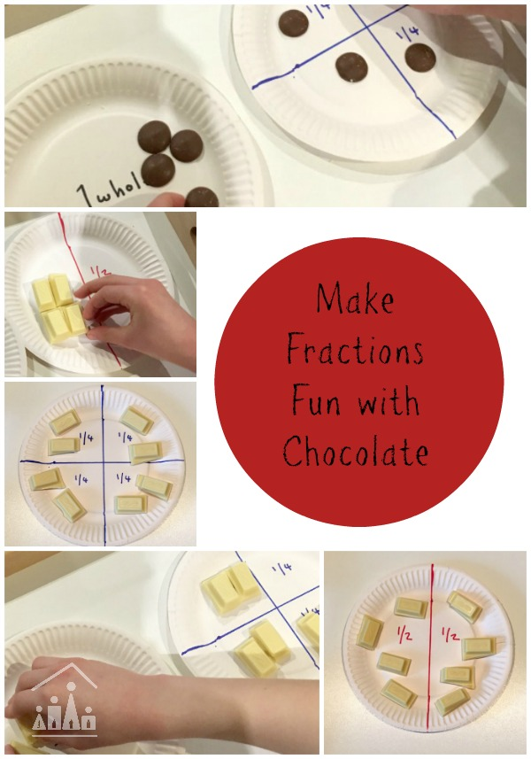 make fractions fun with chocolate