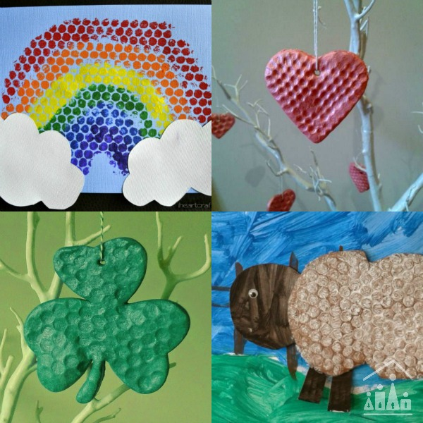 spring bubble wrap activities for kids