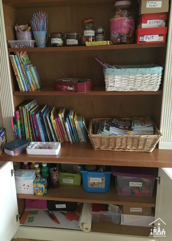 very organised arts and crafts supplies