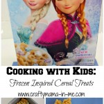 Cooking with Kids Frozen Inspired Cereal Treats