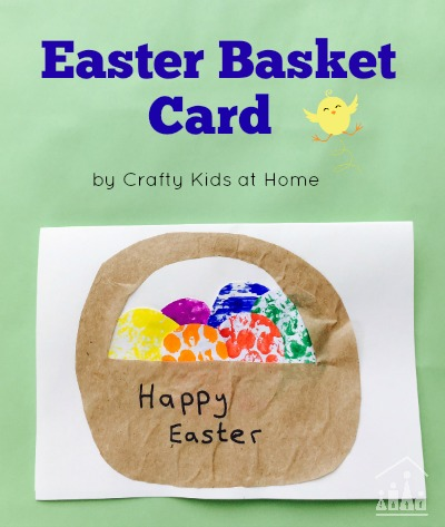 bubble wrap activity easter basket card