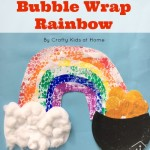 Roll a Bubble Wrap Rainbow
