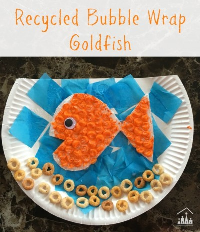 Recycled Bubble Wrap Goldfish Crafty Kids At Home