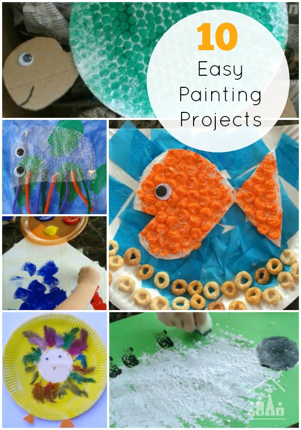 Easy Arts And Crafts Ideas For Kids Part - 36: 10 Easy Painting Projects For Kids