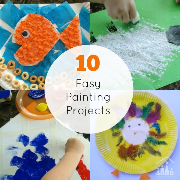 10 Easy Painting Projects For Siblings To Do Together Crafty Kids