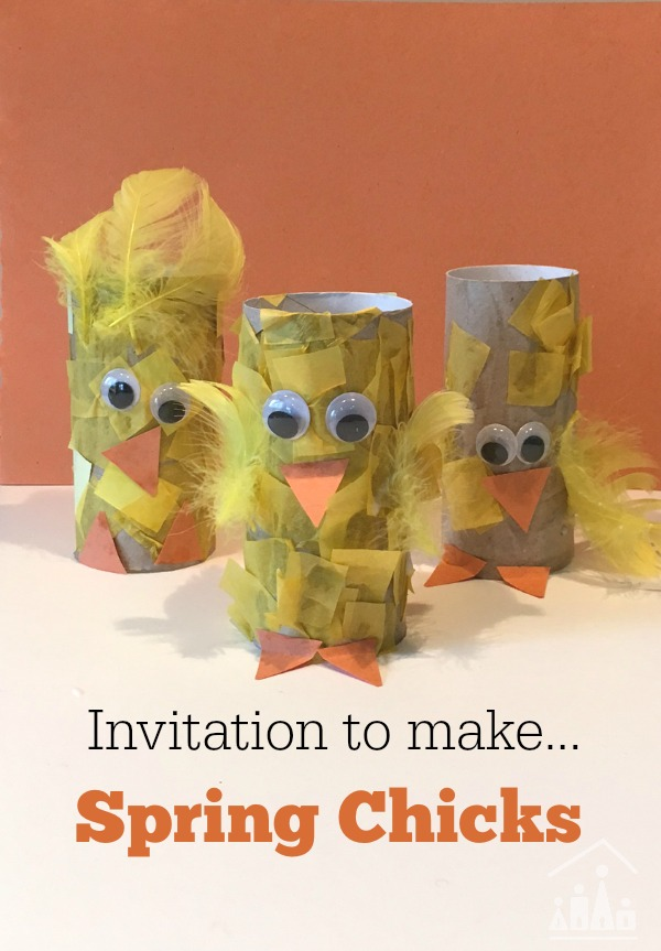 Invitation to make chicks with TP Rolls