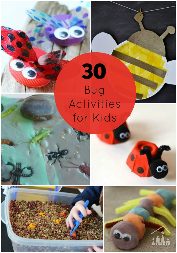 30 Bug Activities for Kids. Arts and crafts, sensory play and learning fun