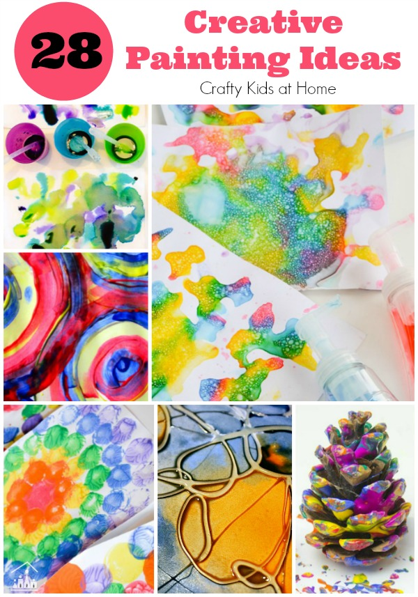 28 creative painting ideas for kids crafty kids at home - Creative digital art ideas for your home ...