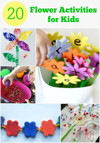 Fun Flower Activities for Kids of all ages.