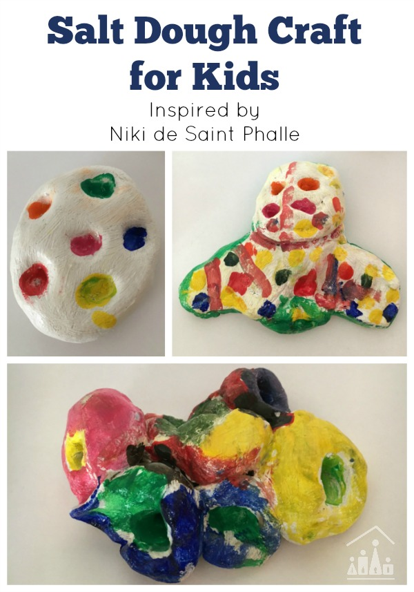 Salt dough Craft inspired by Niki de Saint Phalle