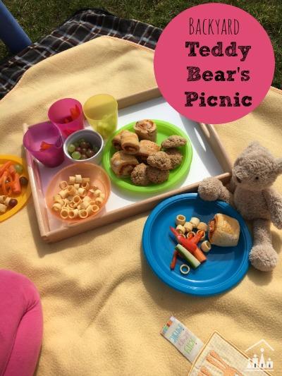 Back yard Teddy Bears Picnic